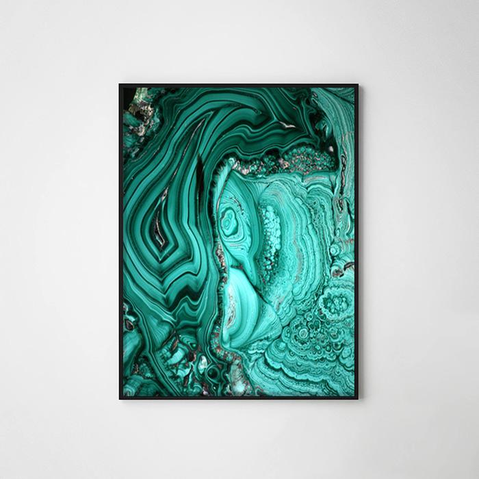 画像1: Deep Green マーブル ポスター (1)