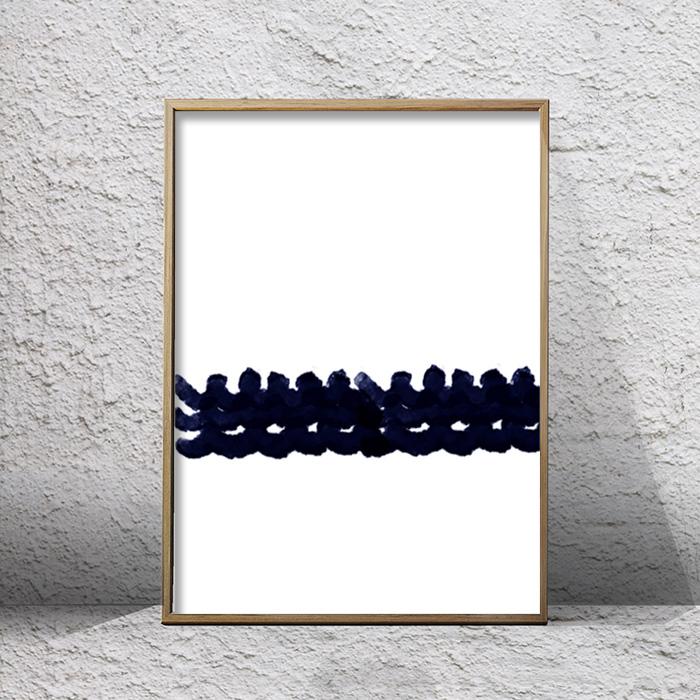 画像1: SCREW インディゴ アート ポスター (1)