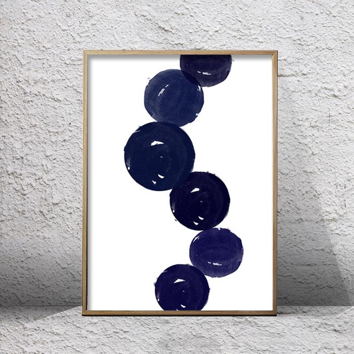 画像1: CIRCLE LINE UP サークル ラインアップ インディゴ アート ポスター (1)