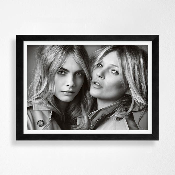 画像1: 貴重!カーラ & ケイトモス バーバリー Burberry Perfume ポスター (1)