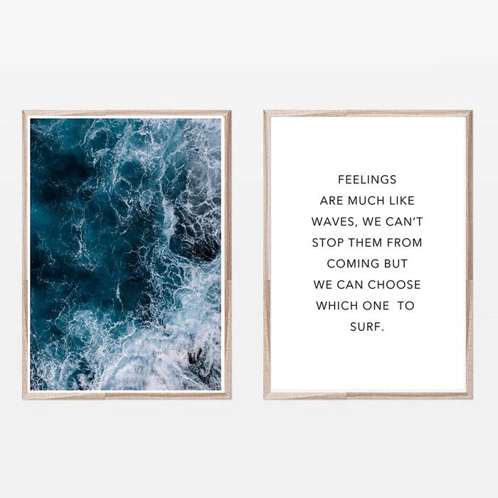 画像1: DEEP OCEAN 深海と名言 おしゃれポスター 2枚セット (1)