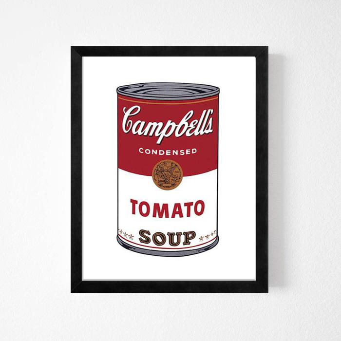 画像1: Andy Warhol アンディ・ウォーホル 『CAMPBELL'S SOUP I: TOMATO, 1968』 アート(額縁付き) (1)