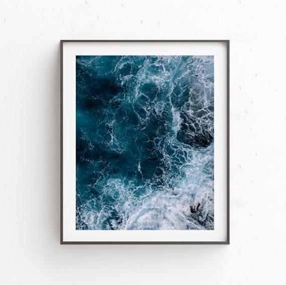 画像1: Deep Ocean Wave Splash 深海 ポスター (1)