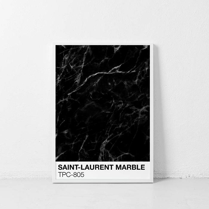 画像1: SAINT-LAURENT Marble マーブル ポスター (1)