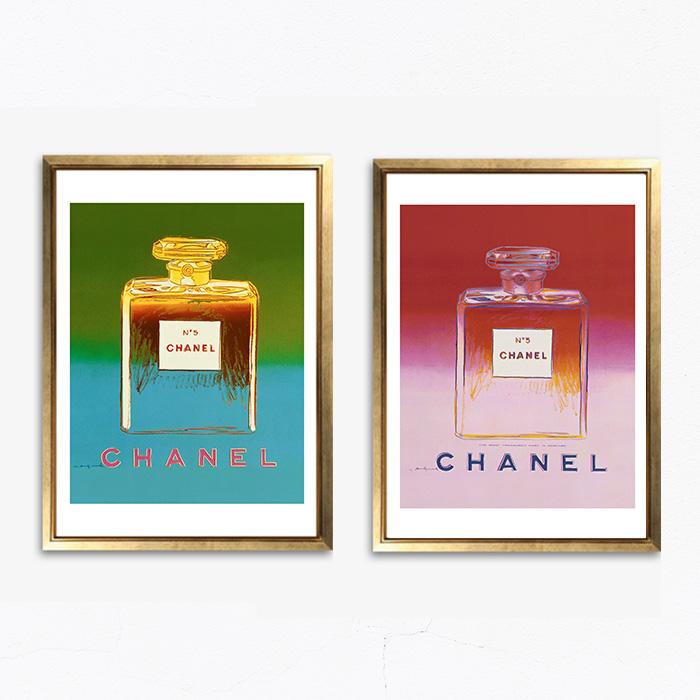 画像1:  CHANEL No.5 パフューム シャネル アンディ・ウォーホル パロディ ポップアート ポスター (2枚セット) (1)