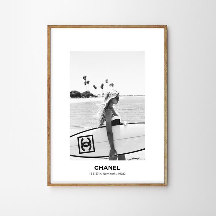 画像1: CHANEL CHANEL サーフボード SURF GIRL ポスター (1)