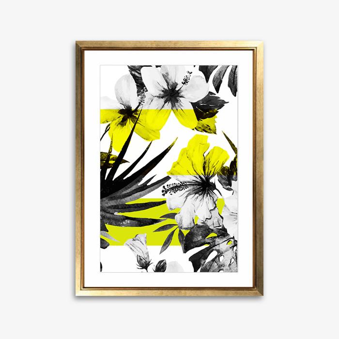 画像1: Tropical Floral トロピカル フローラル アートポスター (1)