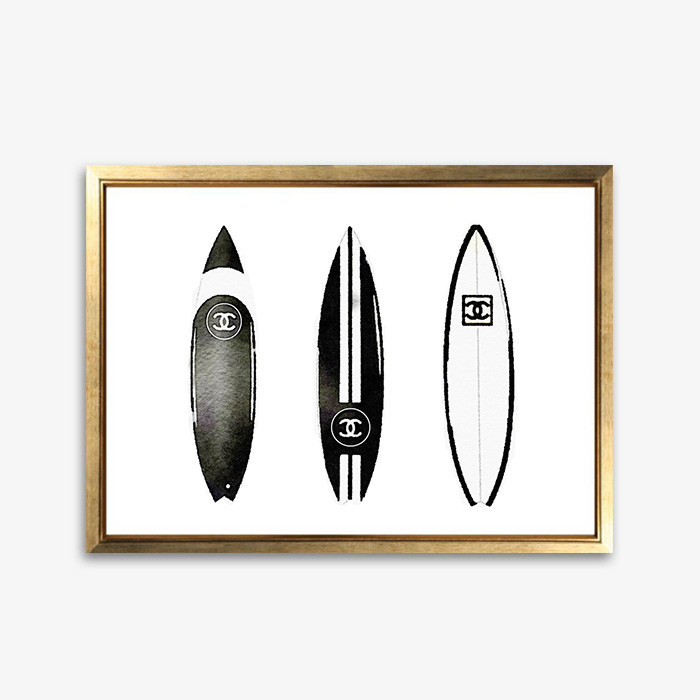 画像1: CHANEL シャネル 3 Surfboard サーフボード ポスター (1)