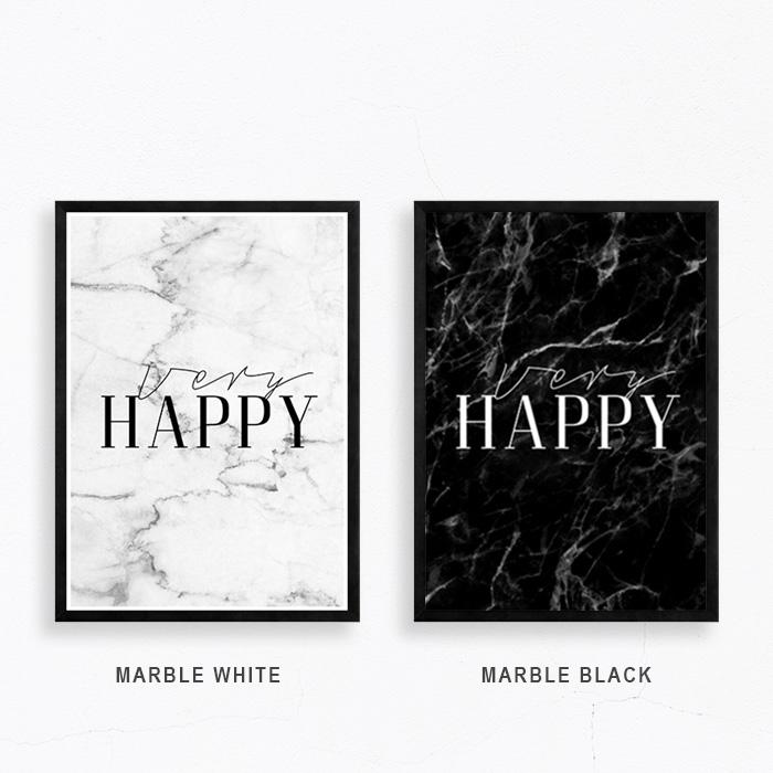 画像1: タブチキヨシ + CA PPRINT COLLECTIVE『VERY HAPPY』 マーブル コラボレーション ポスター (1)