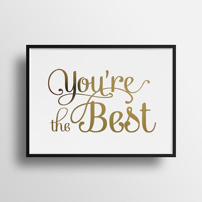 画像1: You're the BEST  ポスター(額縁付き) (1)