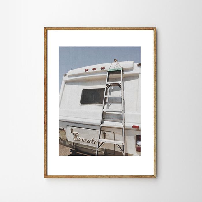 画像1: VINTAGE CAMPING CAR  キャンピングカー アートポスター (1)