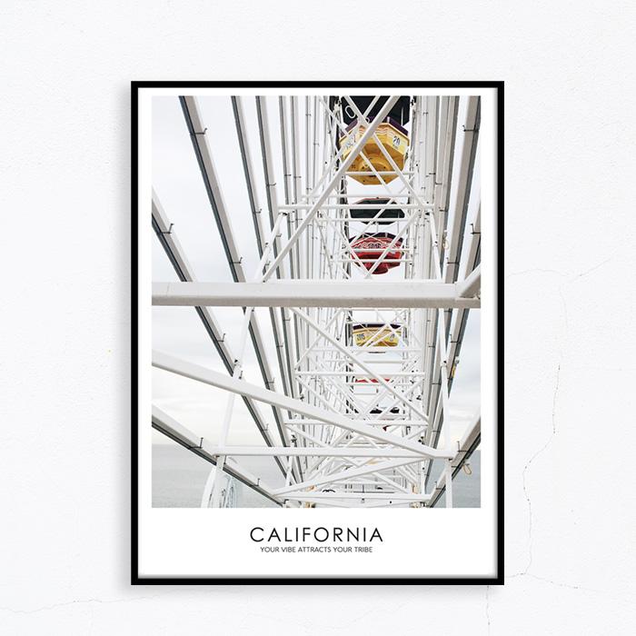 """画像1: 観覧車 Ferris wheel """" CALIFORNIA """" ポスター (1)"""