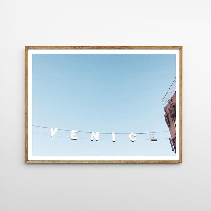 画像1: カリフォルニア VENICE サイン IN LA  ポスター (1)