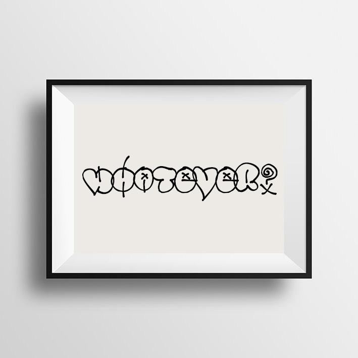 画像1: 『WHATEVER』 Graffiti グラフィティ ポスター (全2色) (1)