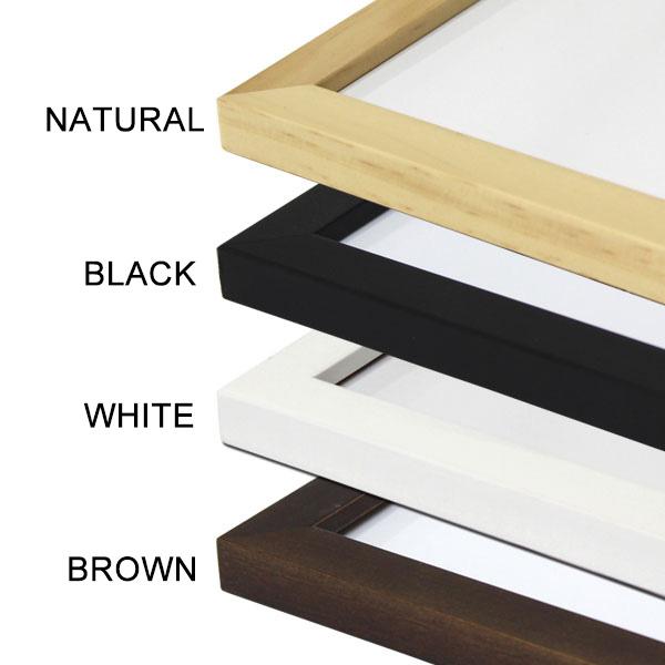 画像1: オリジナル FLAT ウッド木製  ポスターフレーム 額縁 (全4色) (1)