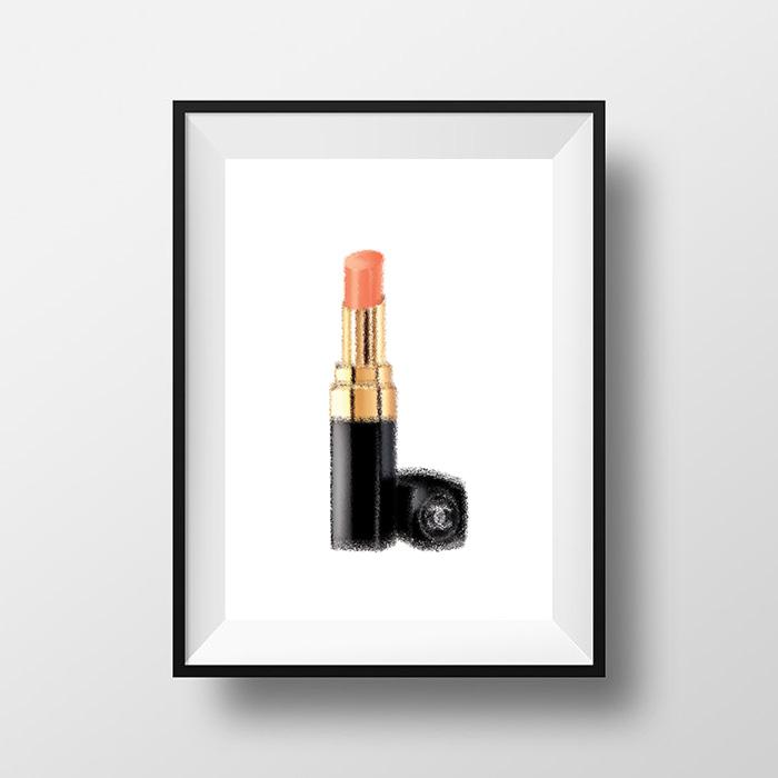 画像1: CHANEL Lips ファッション  ポスター (1)