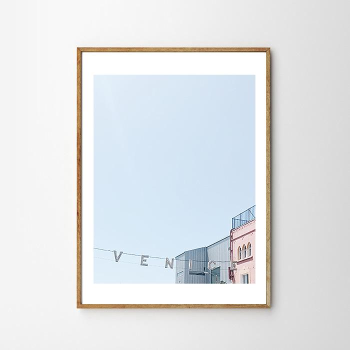 画像1: V E N I C E - California Venice Beach ベニスビーチ Modern ポスター (1)