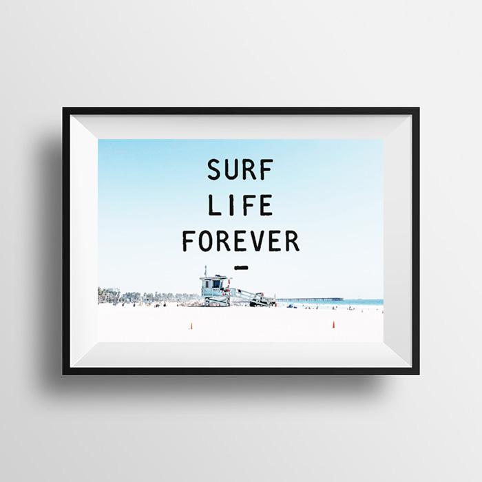 画像1: SURF LIFE FOREVER - サーフライフ おしゃれ ポスター (1)