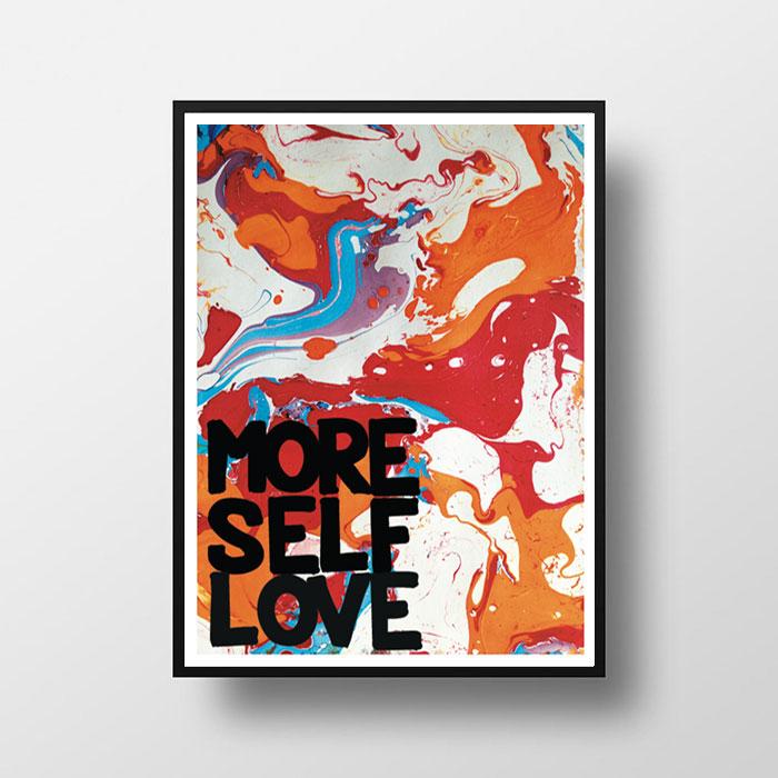画像1: MORE SELF LOVE マーブルアート ポスター (1)