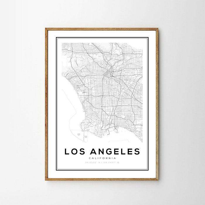 画像1: LOS ANGELES ロサンゼルス MAP マップ ポスター (1)