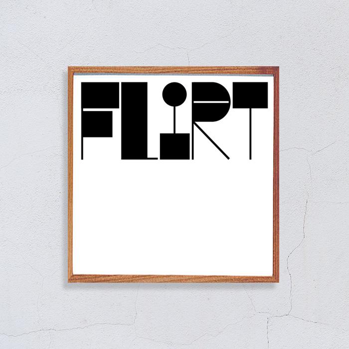 画像1: FLIRT  モノトーンポスター (1)