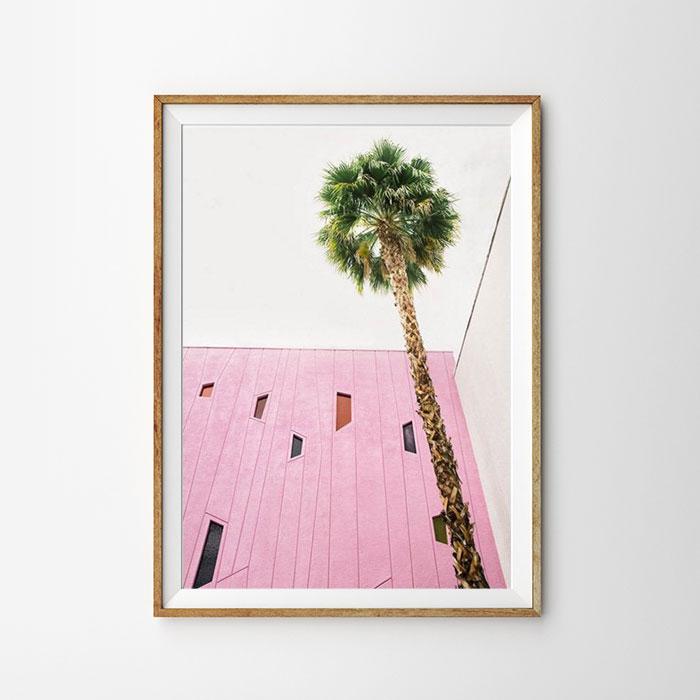 画像1: Palm Tree & Mid Century Architecture ポスター  (1)