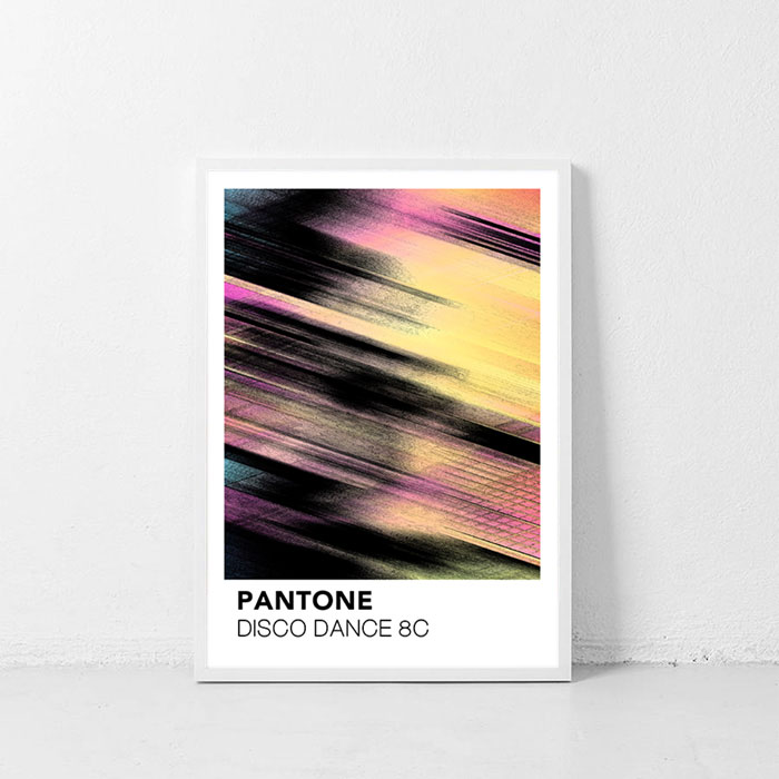 画像1: PANTONE パントーン DISCO DANCE  ポスター (1)