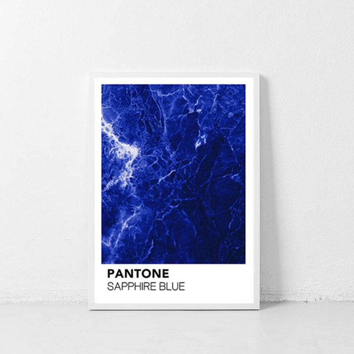 画像1: PANTONE パントーン サファイヤStone  ポスター (1)