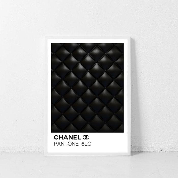画像1: PANTONE パントーン CHANEL Leather ポスター (1)