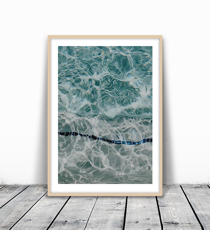画像1: プールサイド Water Movement  インテリアポスター  (1)