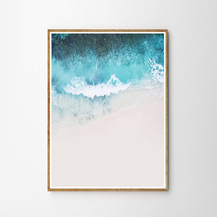 画像1: COASTAL BEACH WAVE コースタルビーチ ポスター  (1)