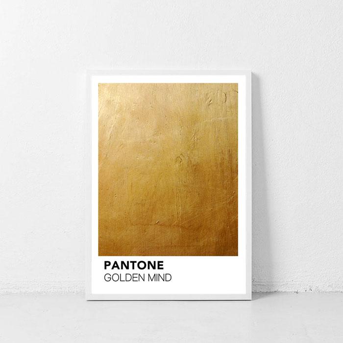 画像1: PANTONE パントーン Golden Mind ポスター (1)
