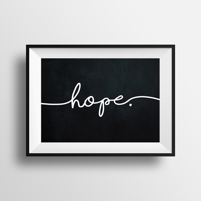 画像1: HOPE チョークボード おしゃれポスター (1)
