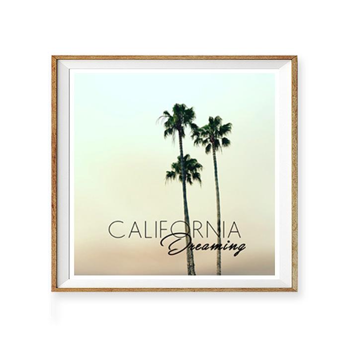 画像1: カリフォルニア ドリーミング CALIFORNIA Dreaming パームツリー おしゃれアートポスター (1)