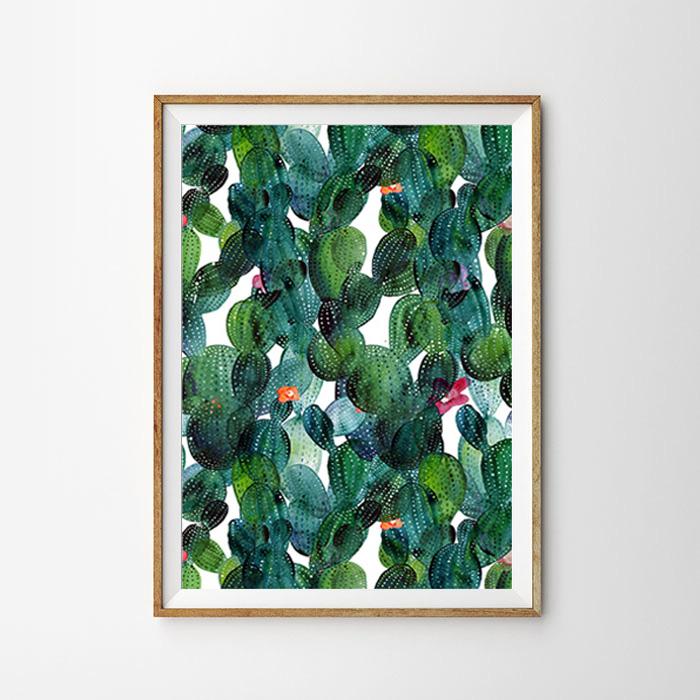 画像1: Cactus + Cactus サボテンアートポスター (1)