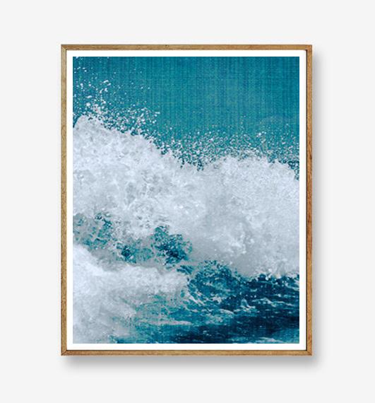 画像1: Big Ocean Wave アートポスター (1)