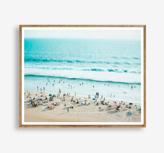画像1: WORLD ビーチ 海 ポスター (1)