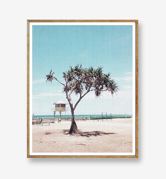画像1: Ocean & Tree Beach ポスター (1)