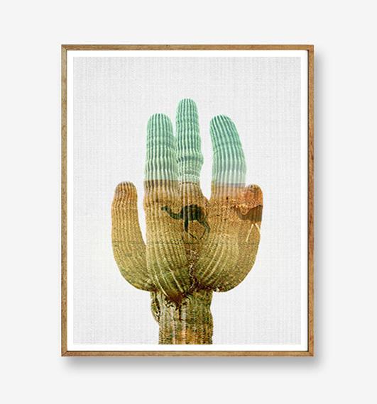 画像1: サボテン Cactus グラデーション ポスター (1)