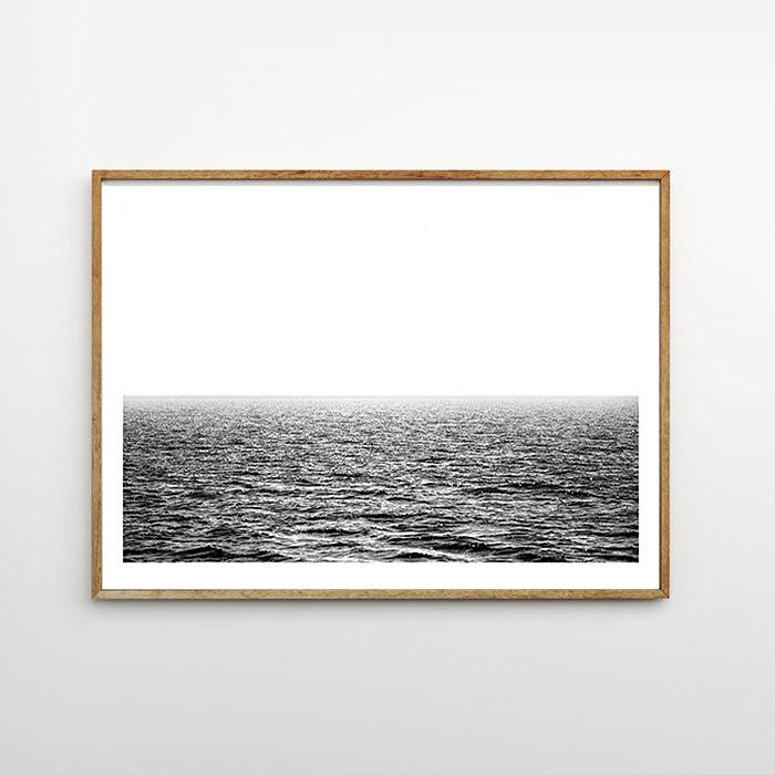 画像1: Sea Surface オーシャン モノトーン アート ポスター (1)