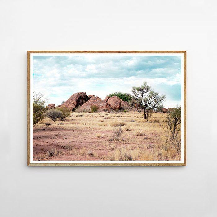 画像1: 砂漠 ランドスケープ 自然アートポスター (1)