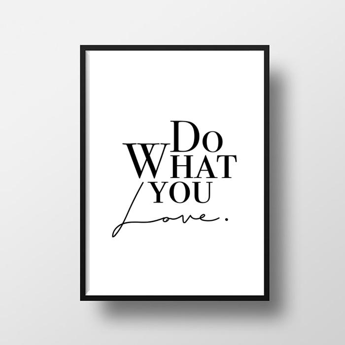 画像1: Do What You LOVE  ポスター (Black & white) (1)