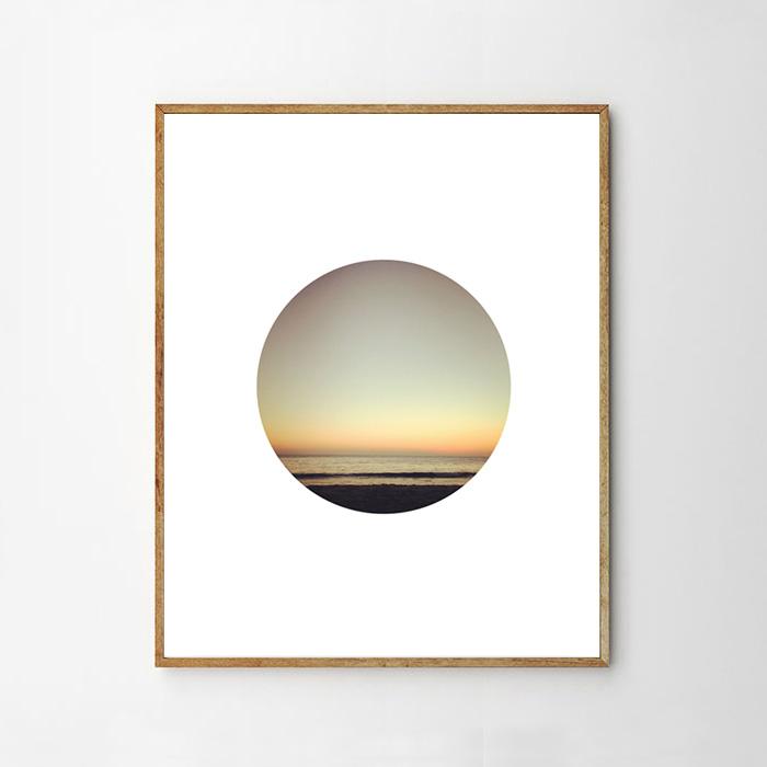 画像1: サンセット Sunset サークル ポスター (1)