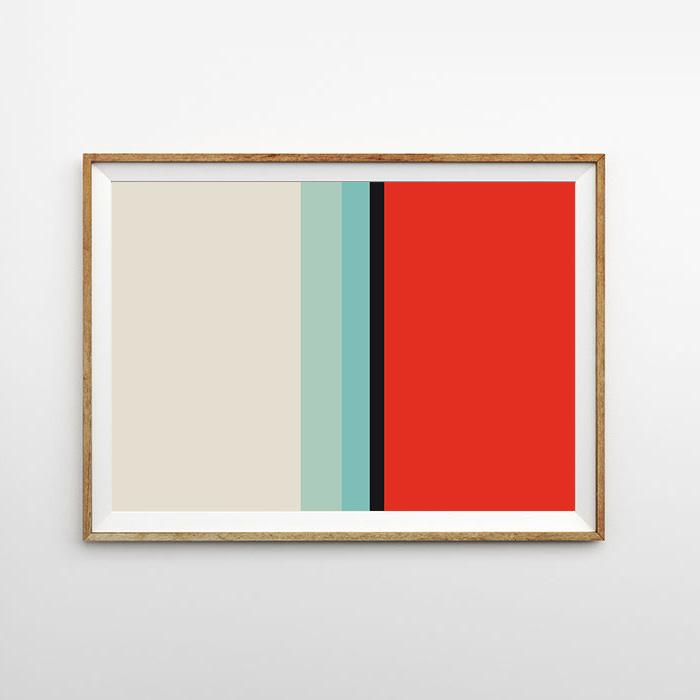画像1: Cream & Redish MIX ライン ポスター (1)
