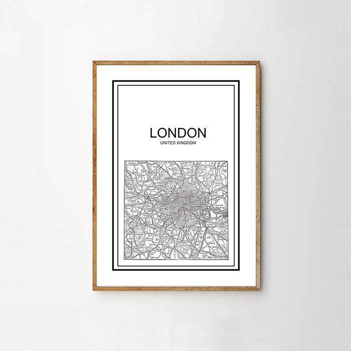画像1: LONDON ロンドン City Map 地図 ポスター (1)