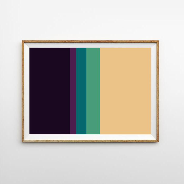 画像1: Purple & Cream MIX ライン ポスター (1)