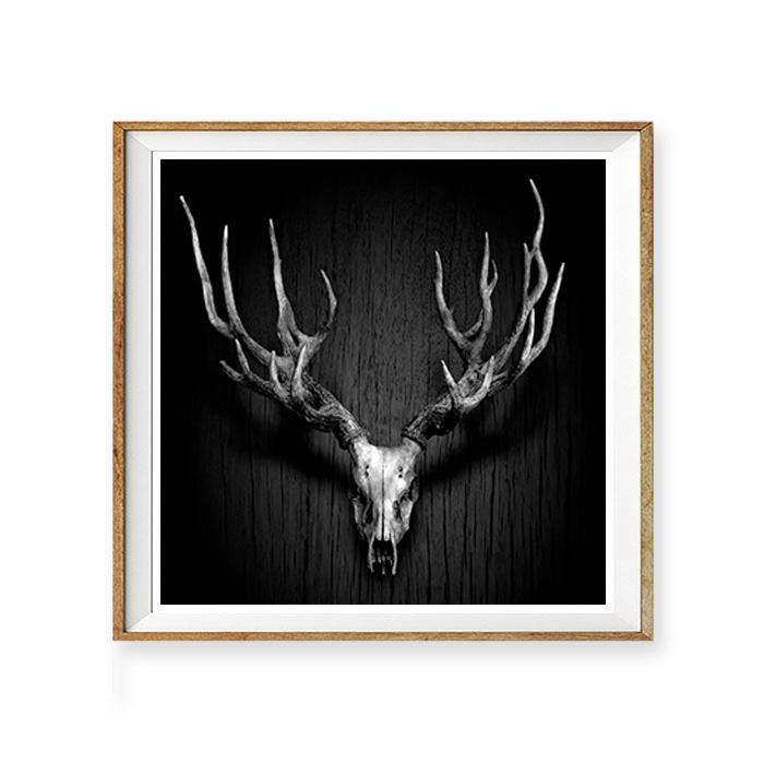 画像1: Deer Antler 鹿枝角 モノトーンポスター (1)