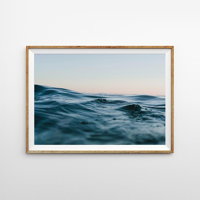 画像1: Ocean Water surface オーシャン サーフェイス ポスター (1)