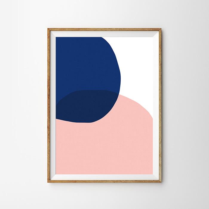 画像1: Uneven Circle 不揃い円形 北欧デザイン ポスター (1)