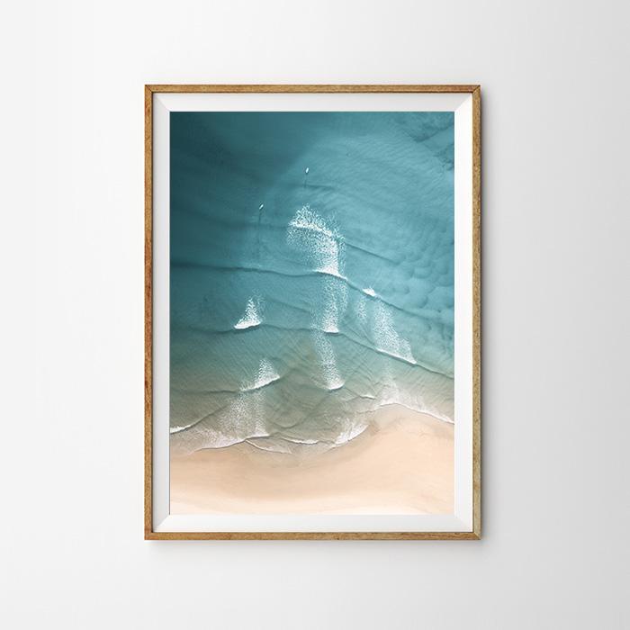 画像1: LITTLE WAVES オーシャン ポスター (1)